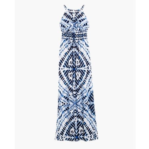 fdd35ccee7c Chico s Dresses   Skirts - Chico s Sz 2 Blue Diamond Tie Dye Maxi Dress